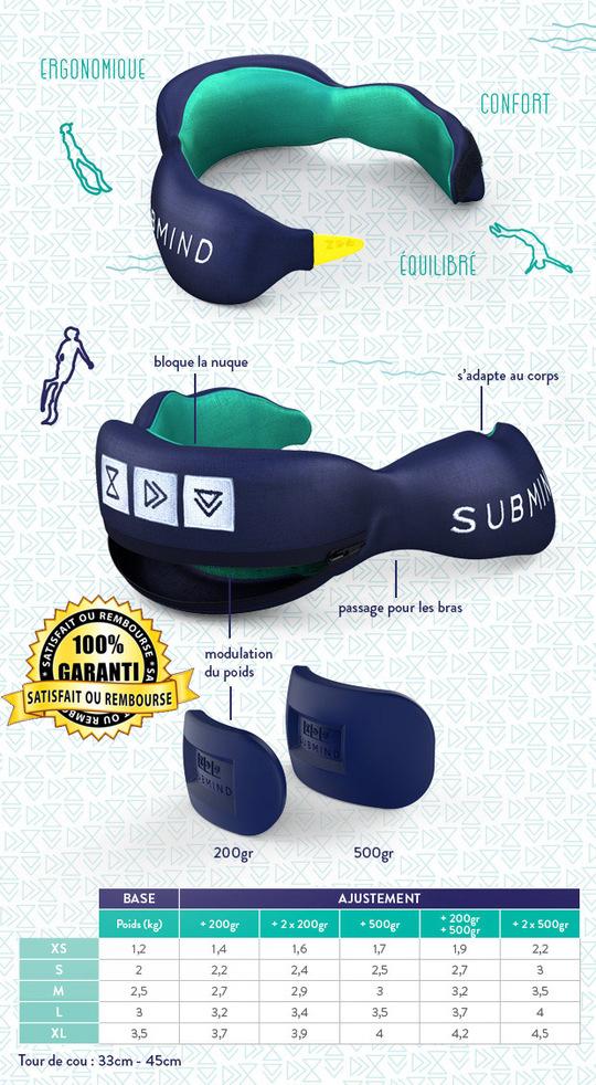Plomb de cou Submind Freediving