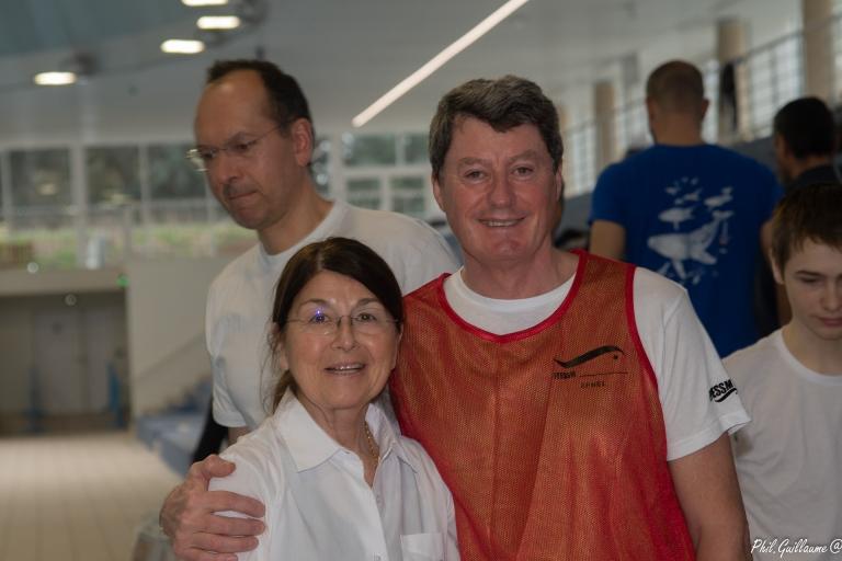 Françoise NIKO-FOY, Présidente de l'AquaDôme Saint-Germain et Henri-Pierre MADHER, Vice-Président de la Commission Régionale Apnée Ile-de-France et juge principal sur La Royale Du Dôme.